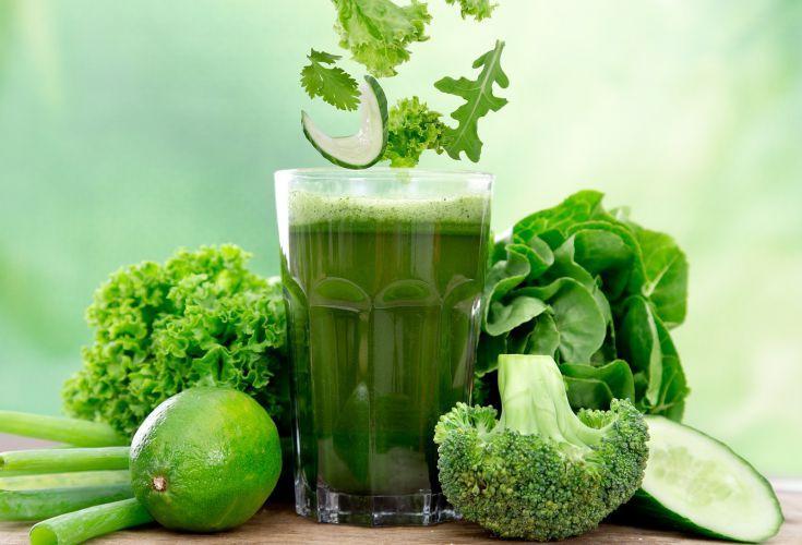 Man drikker da grøntsager